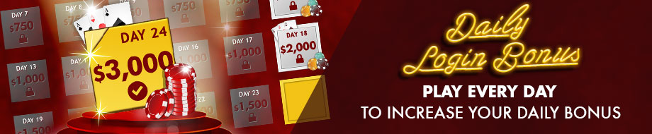 Log in every day and receive up to $3,000 virtual credits